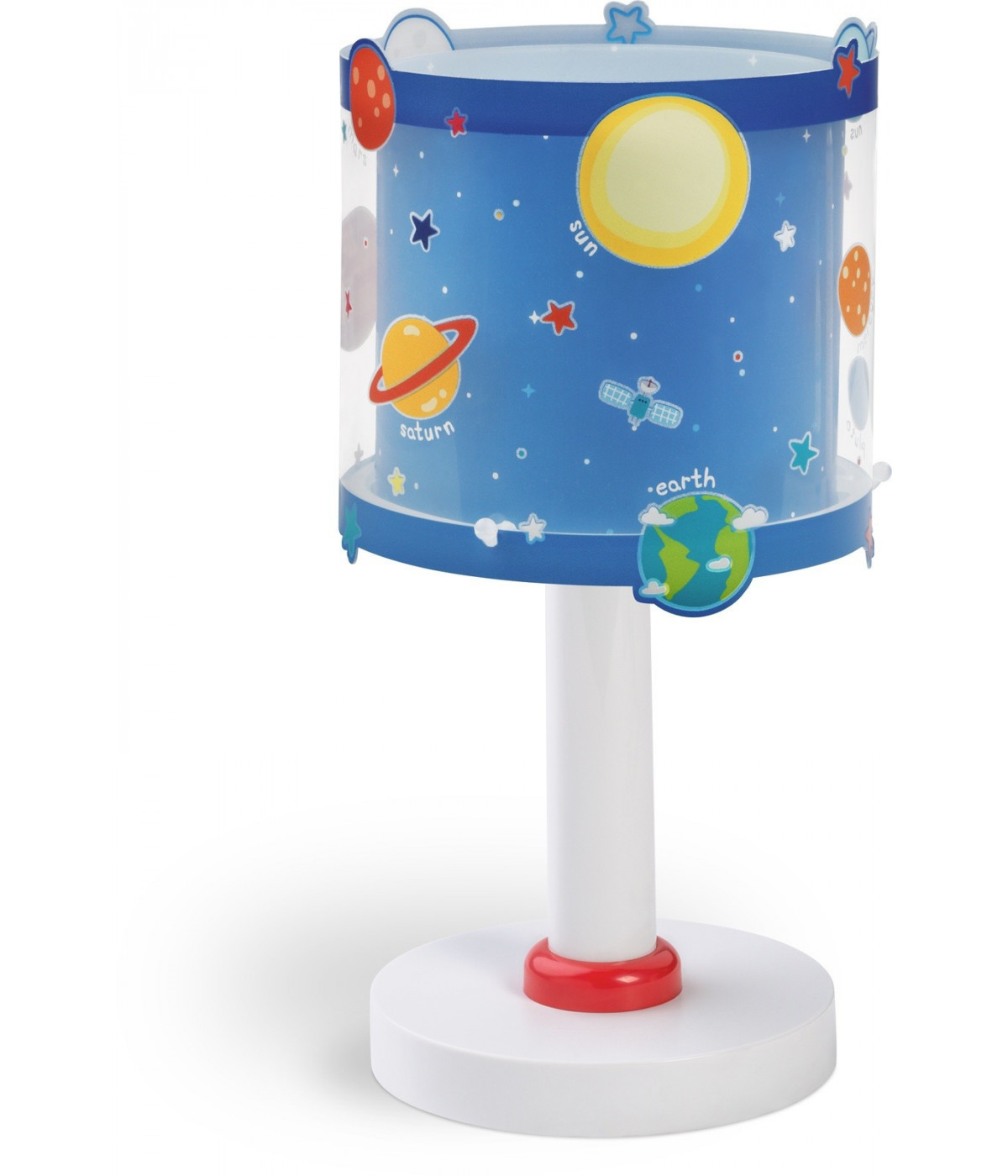 Candeeiro De Mesa Infantil Planets