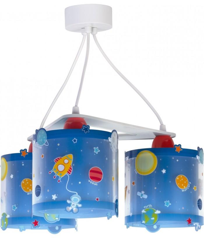 Lámpara Infantil de techo 3 luces Planets