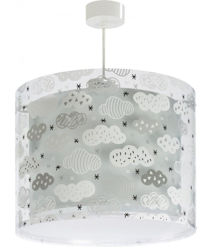 Lámpara infantil de techo Clouds gris
