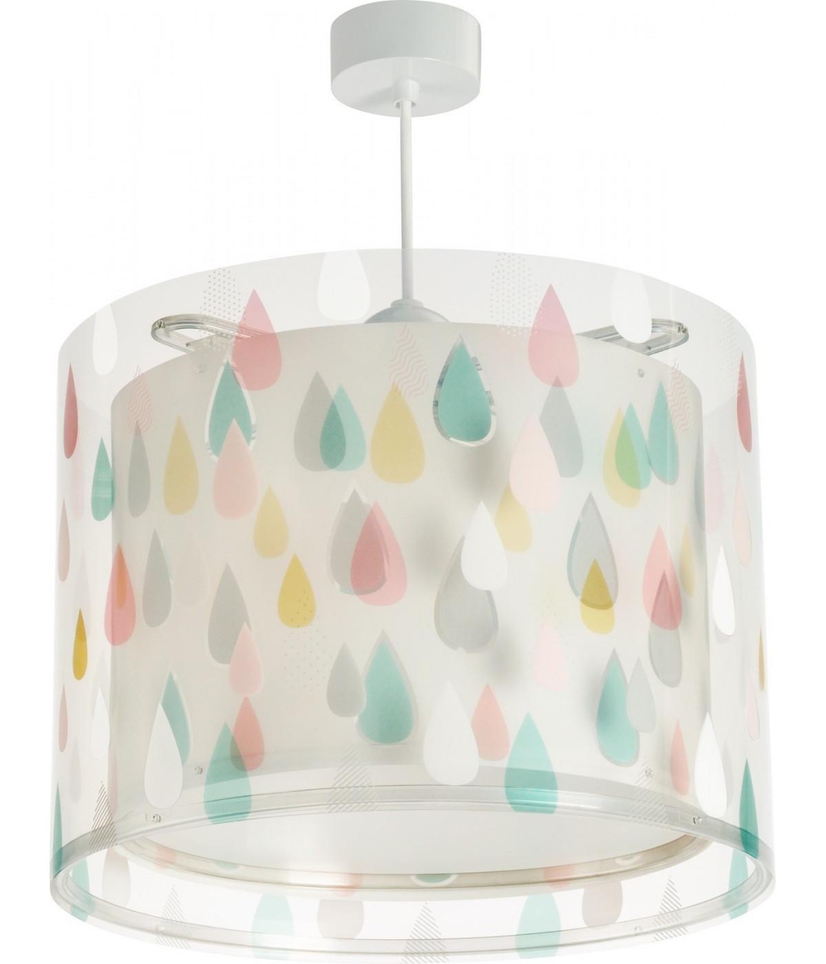 Luminária infantil pendente Color Rain