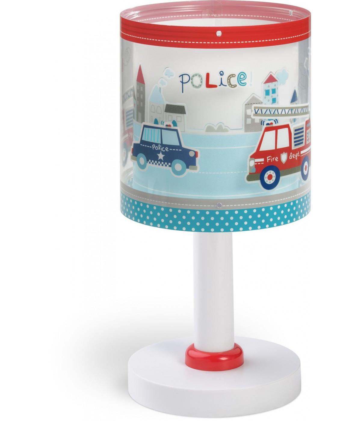 Lampada da comodino per bambini Police