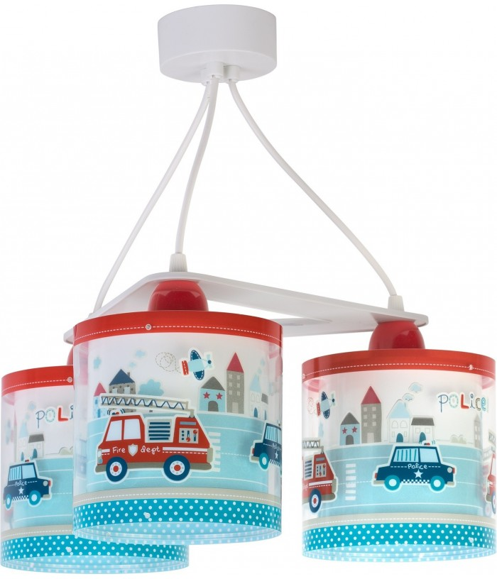 3 light Hanging lamp for Kids Police