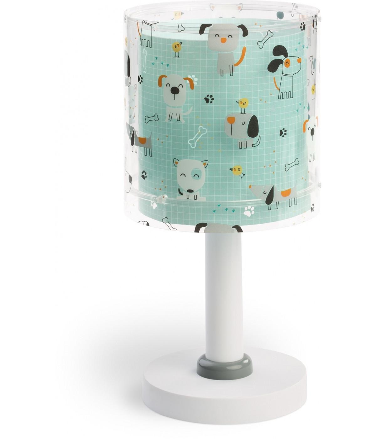 Lámpara infantil de mesita Happy Dogs