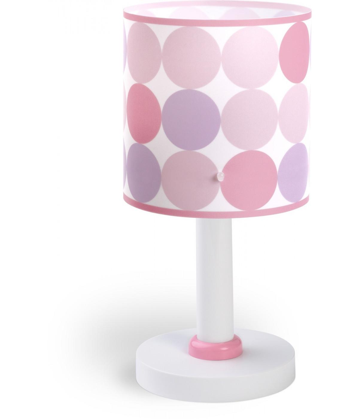 Candeeiro De Mesa para Crianças Colors Rosa
