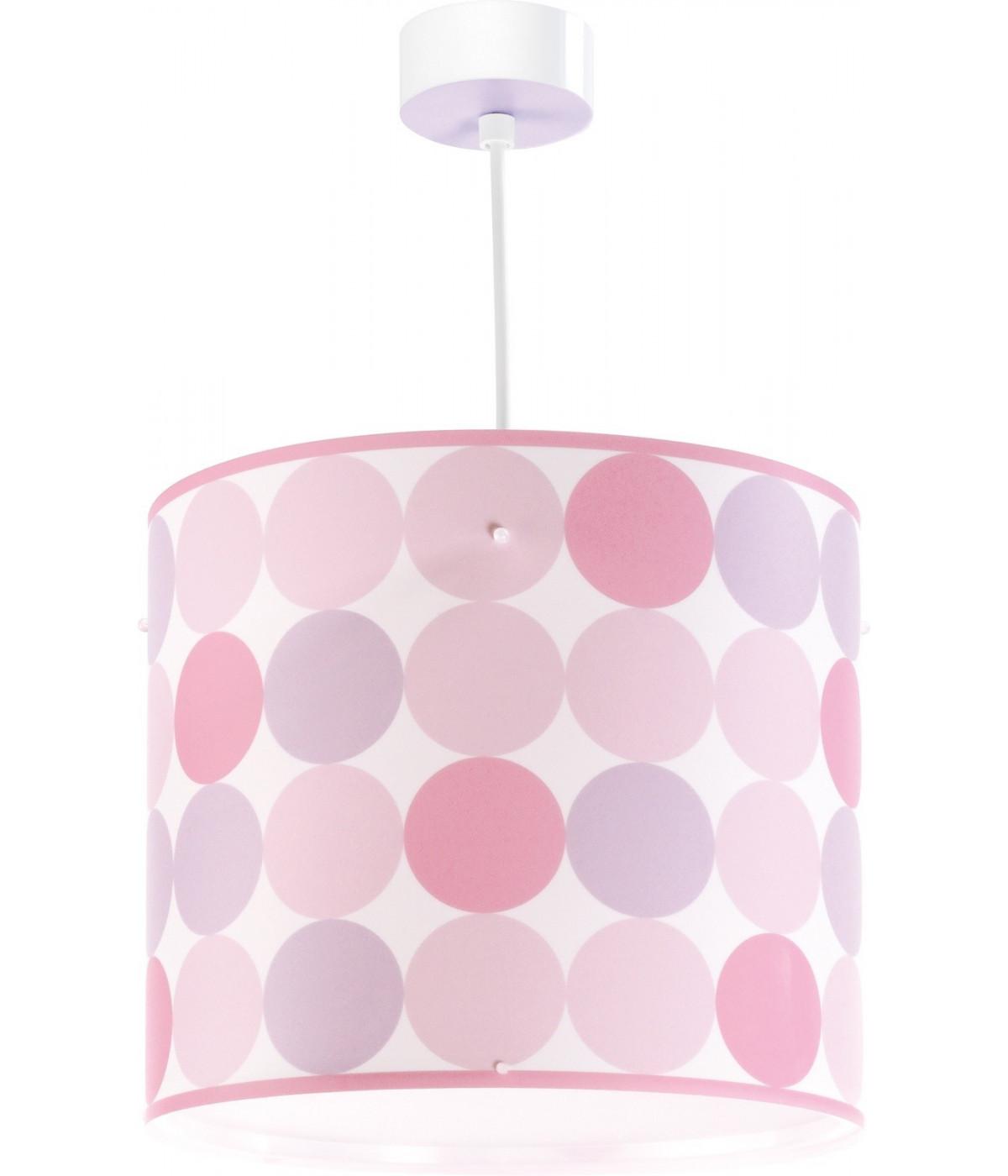 Candeeiro infantil de teto Colors rosa