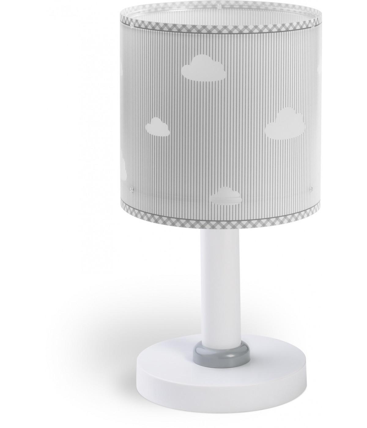 Candeeiro infantil de mesa com nuvens Sweet Dreams cinza