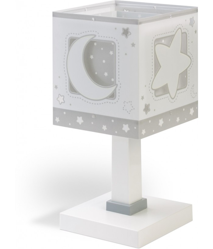 Lámpara infantil de mesa Moonlight gris