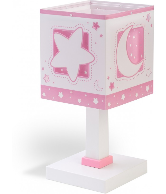 Table lamp for Children Moonlight pink