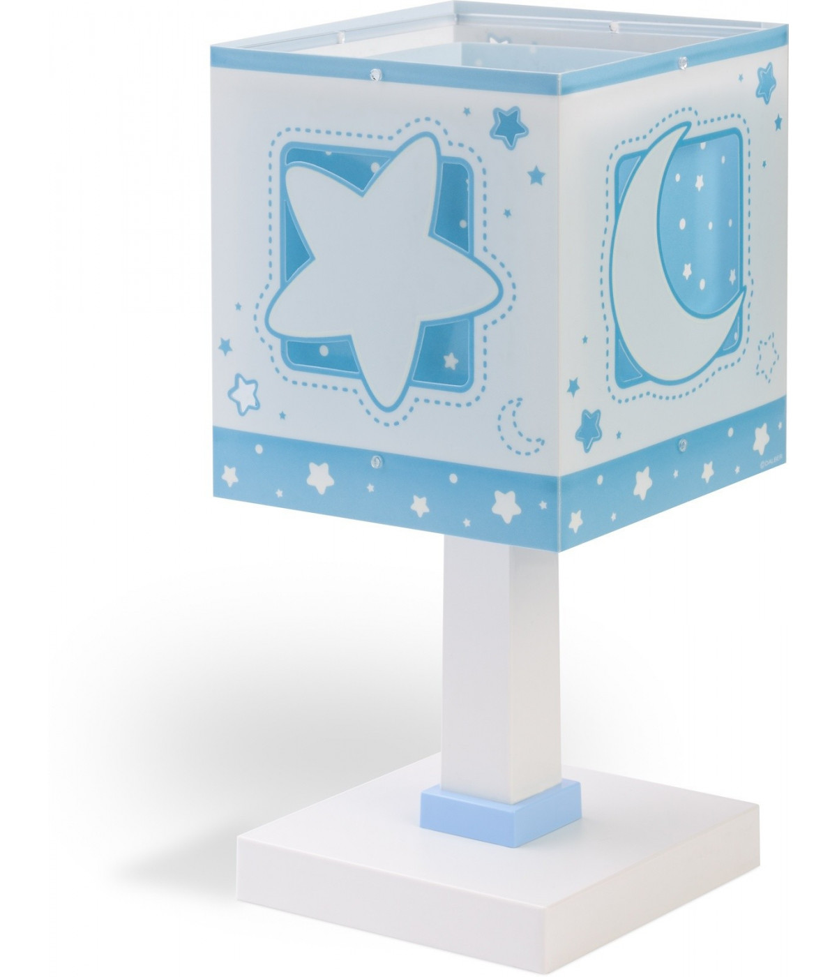 Children table lamp Moonlight blue