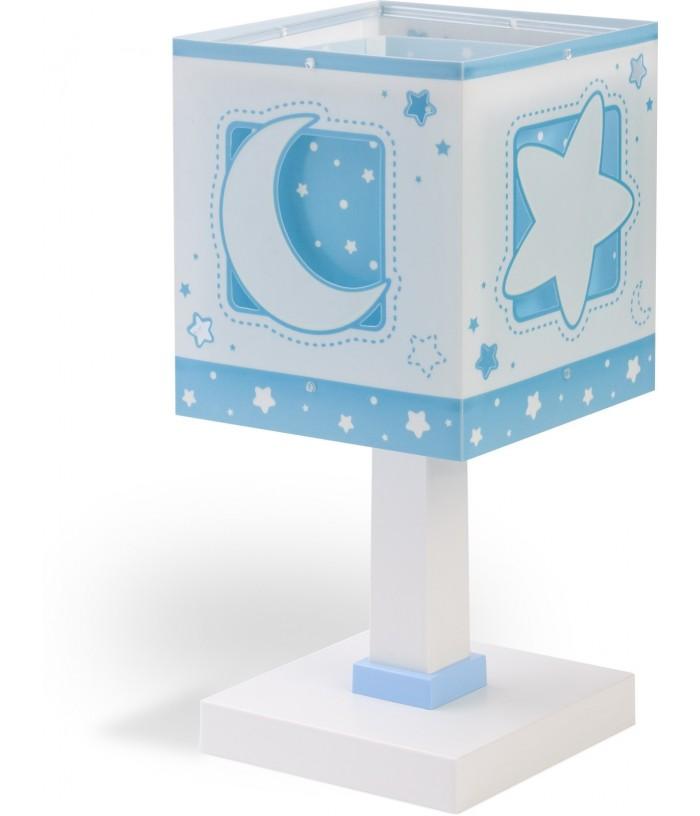 Candeeiro infantil de mesa Moonlight azul