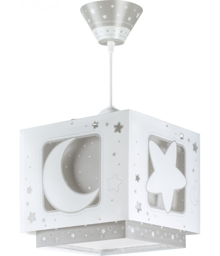 Hanging lamp for Kids Moonlight grey