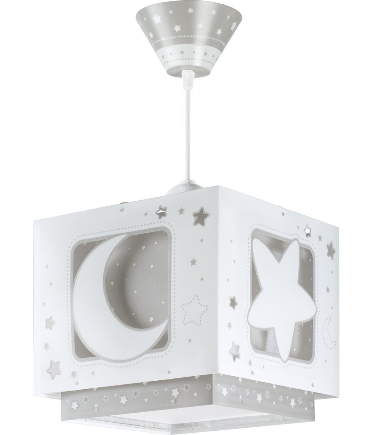 Lámpara infantil de techo Moonlight gris