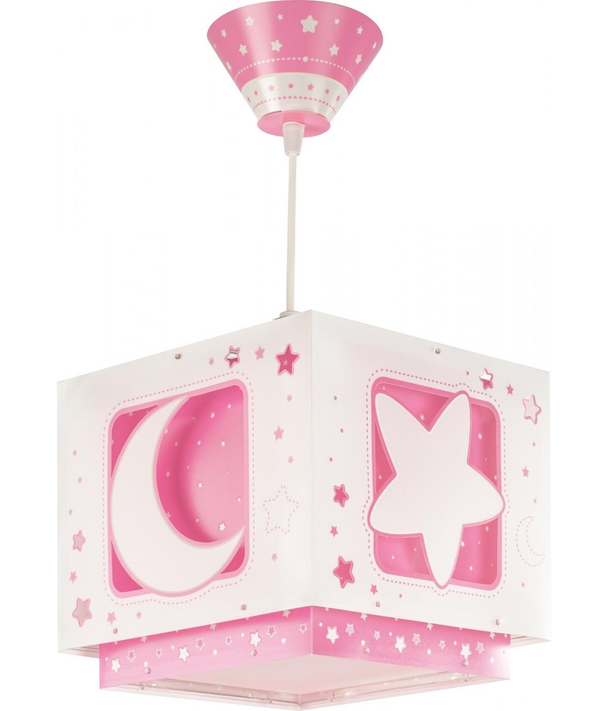 Lampada a sospensione per bambini Moonlight rosa