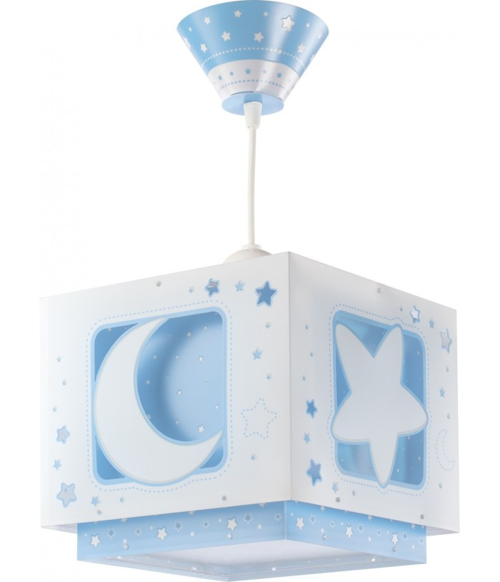 Hanging lamp for Children Moonlight blue
