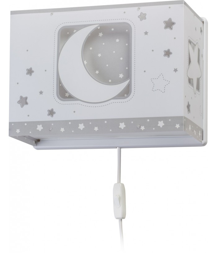 Aplique Infantil de pared Moonlight gris