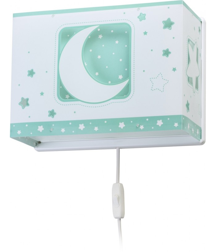 Wall lamp for Kids Moonlight green