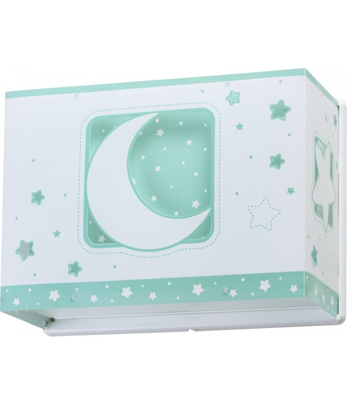 Aplique Infantil de pared Moonlight verde