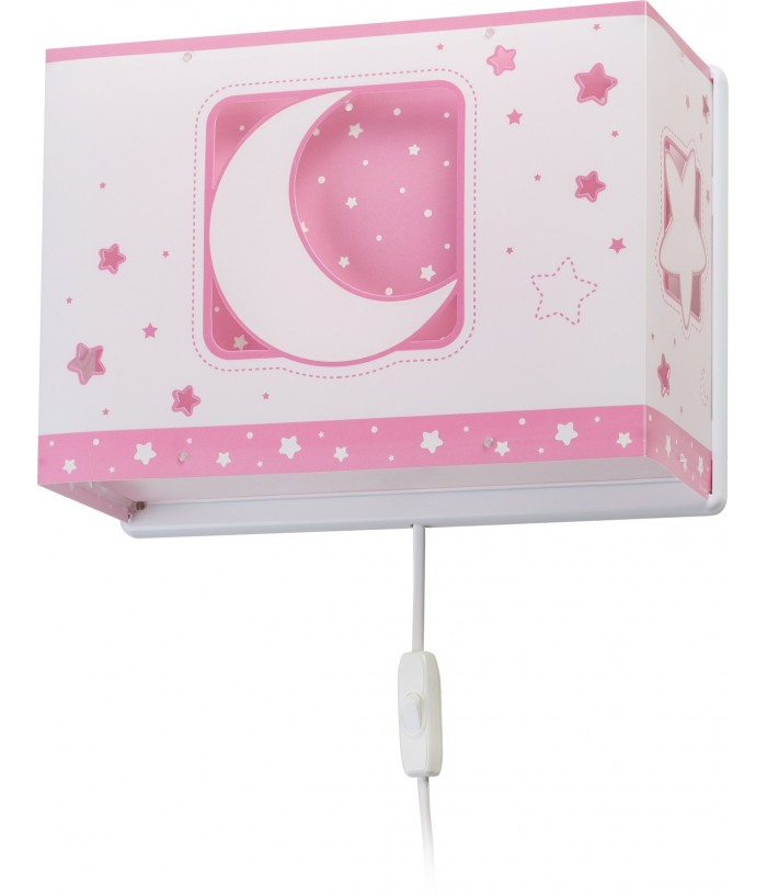 Aplique Pared Infantil Moonlight Rosa