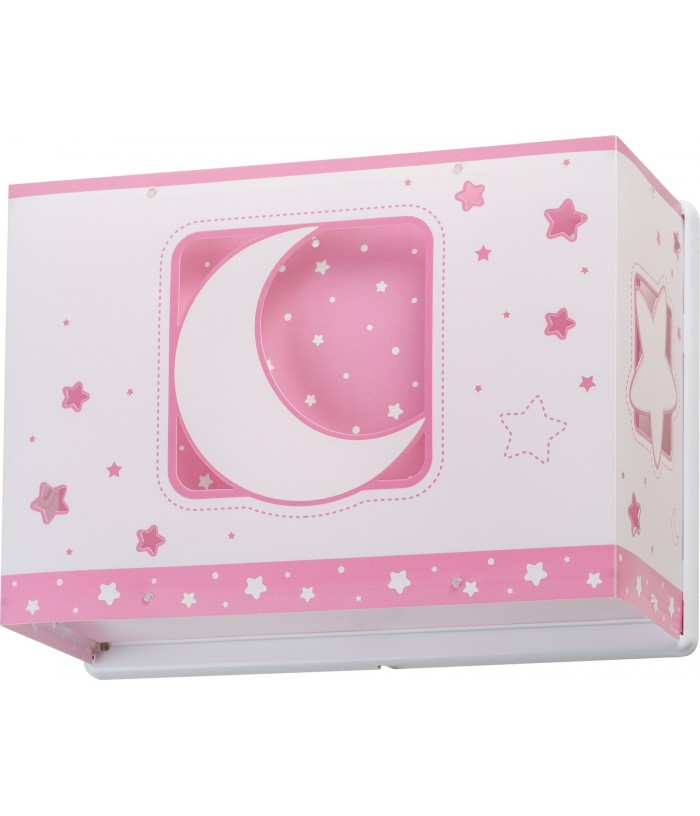 Aplique infantil de pared Moonlight rosa