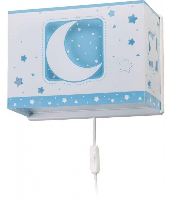 Aplique infantil de pared Moonlight azul