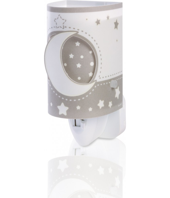 Lámpara Infantil de noche LED Moonlight gris