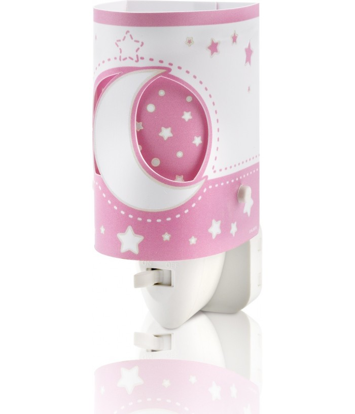 Lámpara infantil de noche LED Moonlight rosa