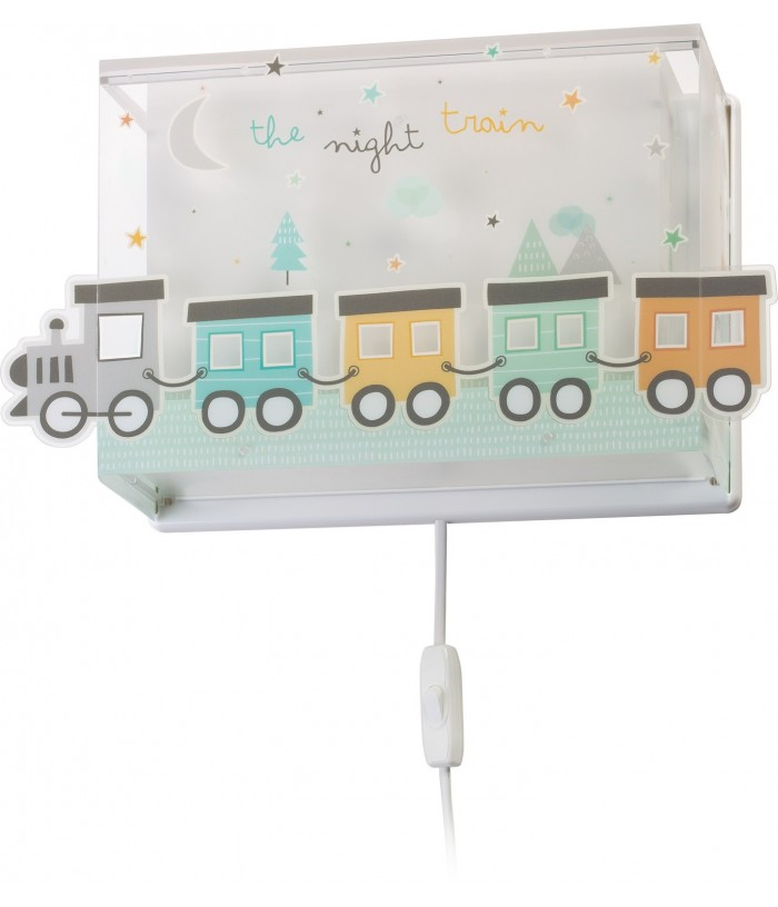 Aplique infantil de pared The Night Train