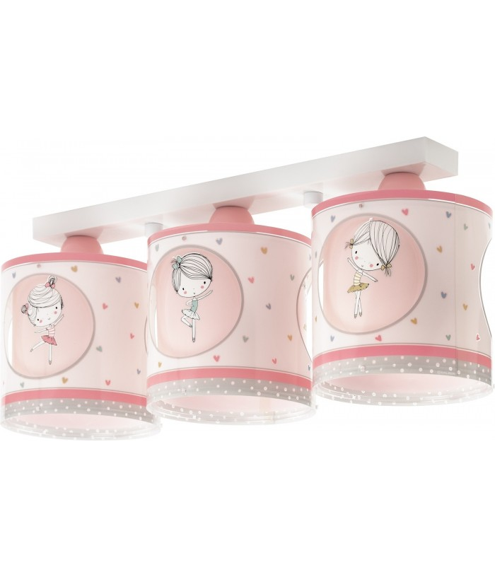 3 light Kids Ceiling Lamp Sweet Dance