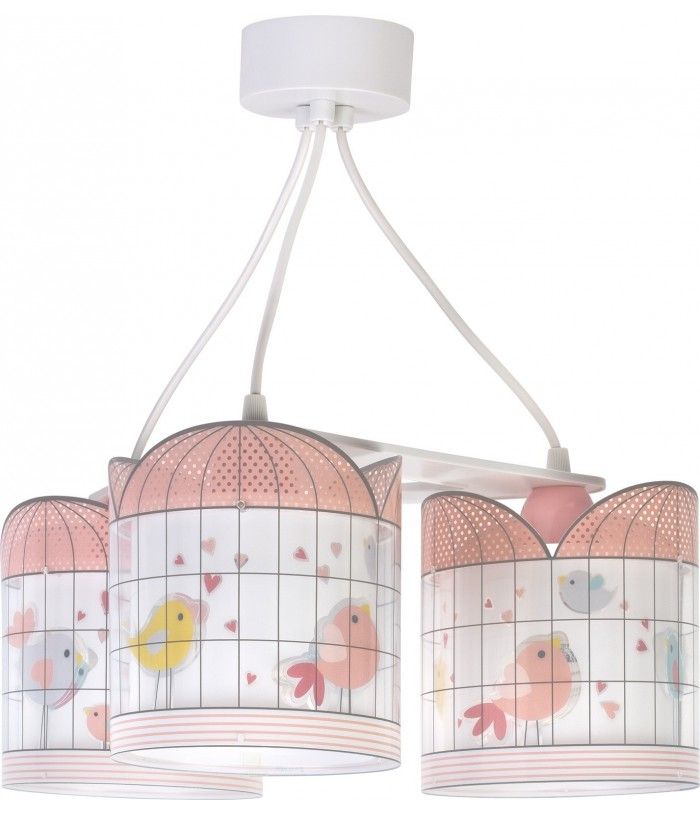 3 light Children's Hanging lamp Little Birds