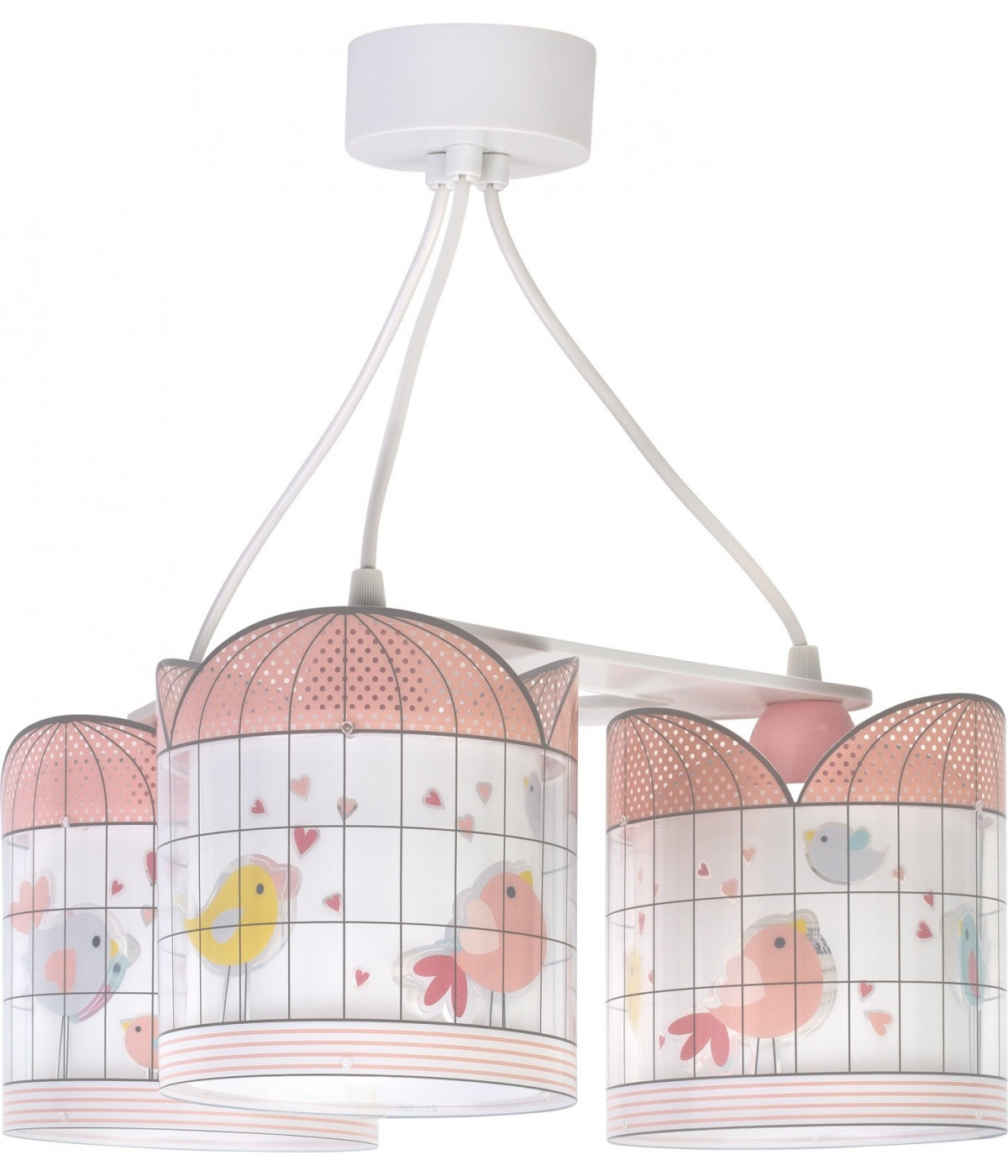 Children 3 light hanging lamp Little Birds