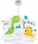 Lámpara infantil de techo Dinos
