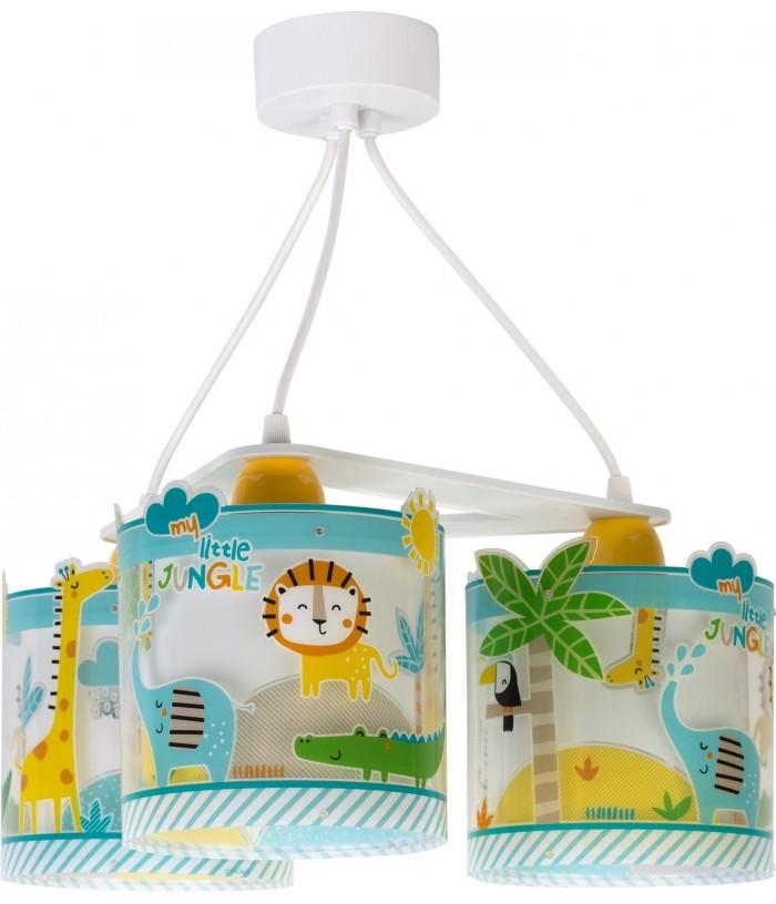 Suspension pour enfants à 3 lampes Little Jungle