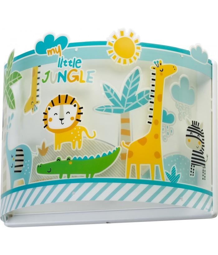 Aplique infantil de parede com animais My Little Jungle