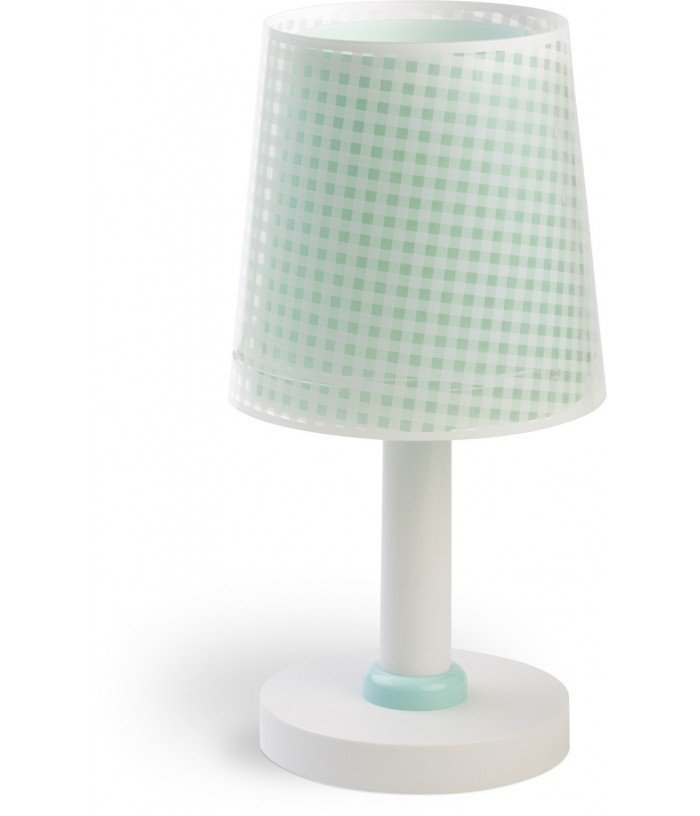 Children table lamp Vichy green