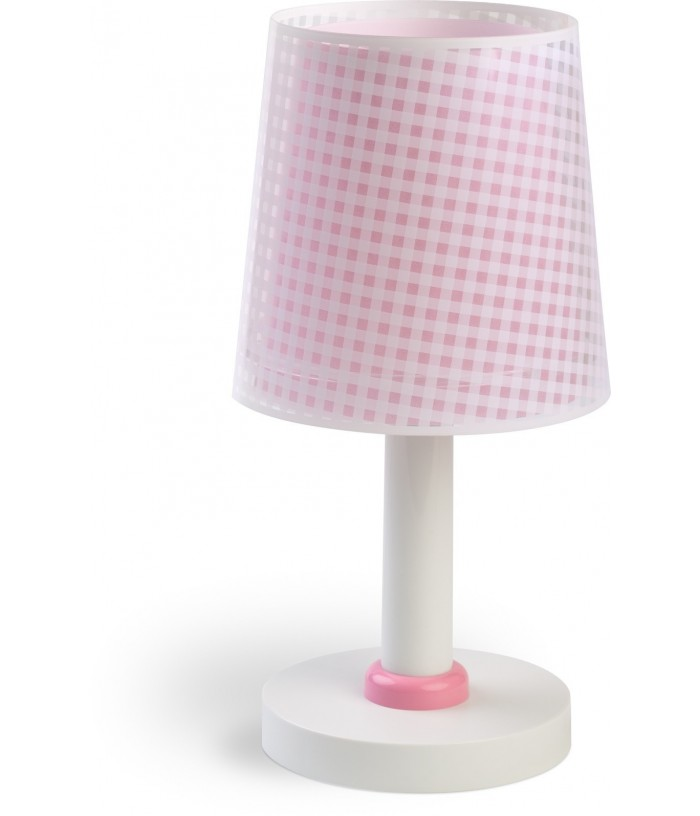 Table lamp for Kids Vichy pink