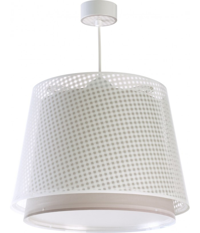 Hanging lamp Vichy light brown