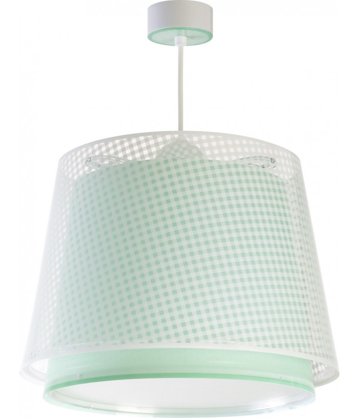 Hanging lamp Vichy green