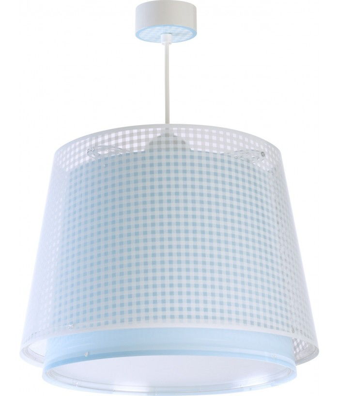 Hanging lamp Vichy blue