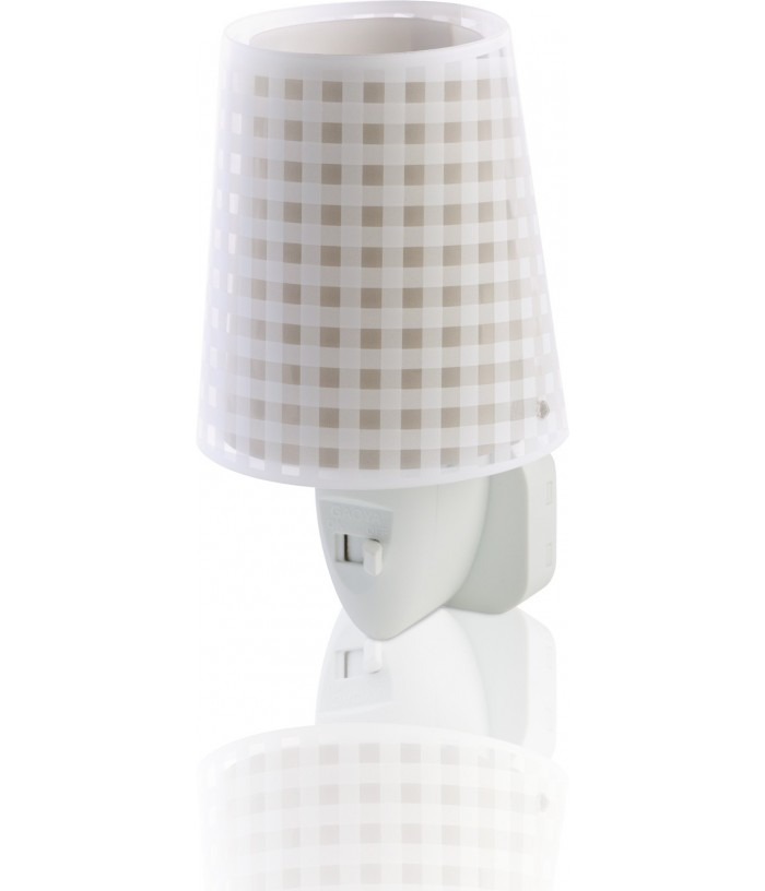Children's Led Nightlight Vichy light brown