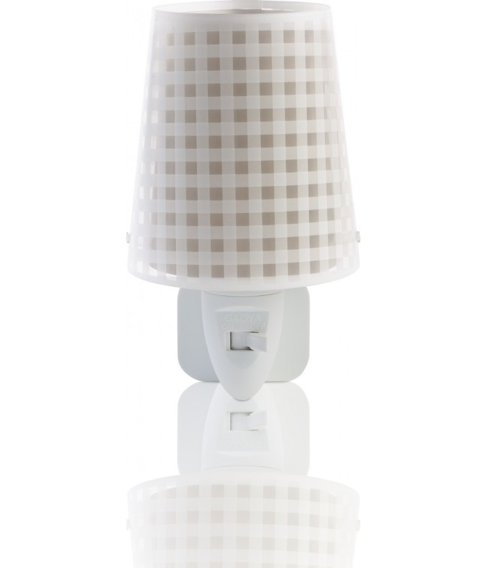 Children's LED nightlight Vichy brown
