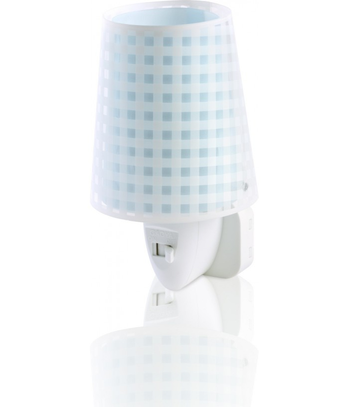 Kids Led Nightlight Vichy blue