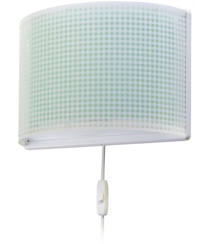 Children wall lamp Vichy green