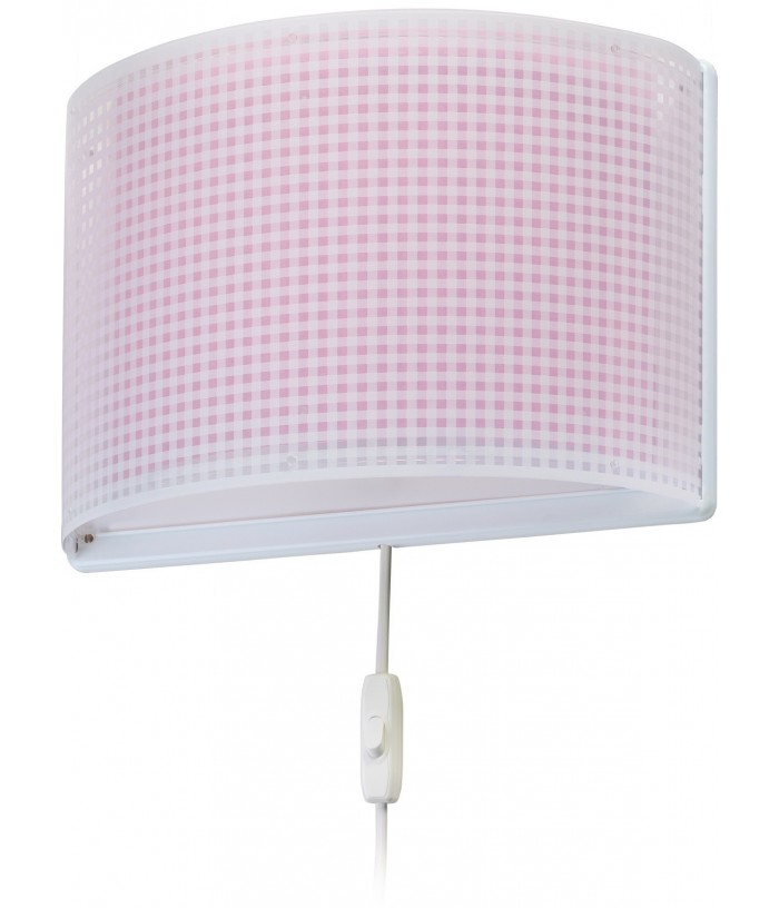 Wall lamp for Children Vichy pink