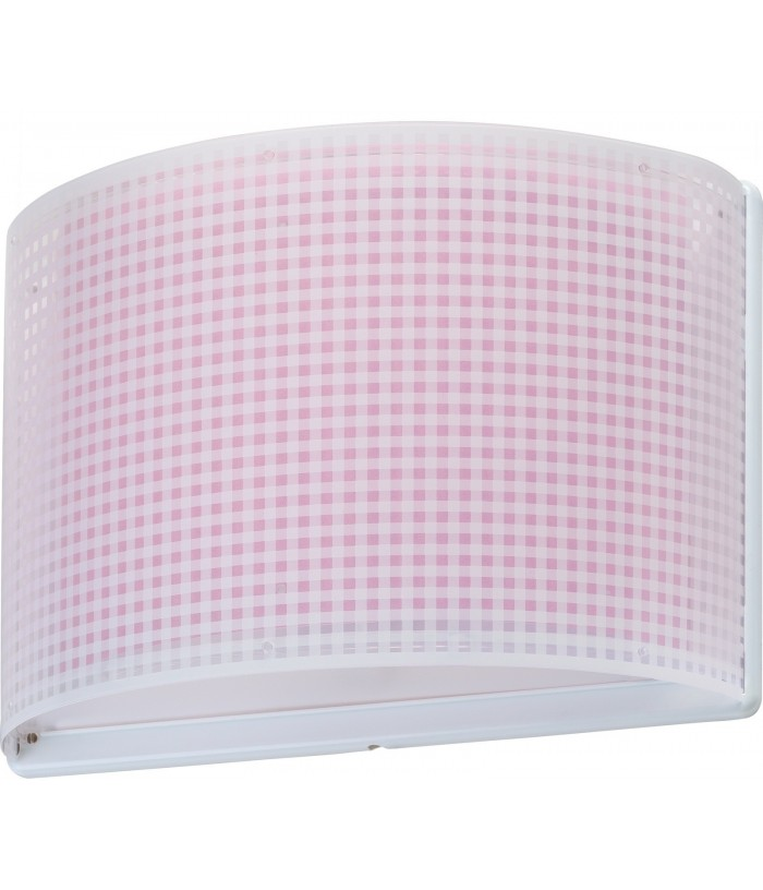 Aplique Pared Infantil Vichy Rosa
