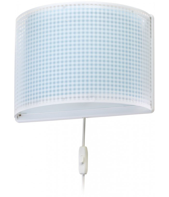 Children wall lamp Vichy blue