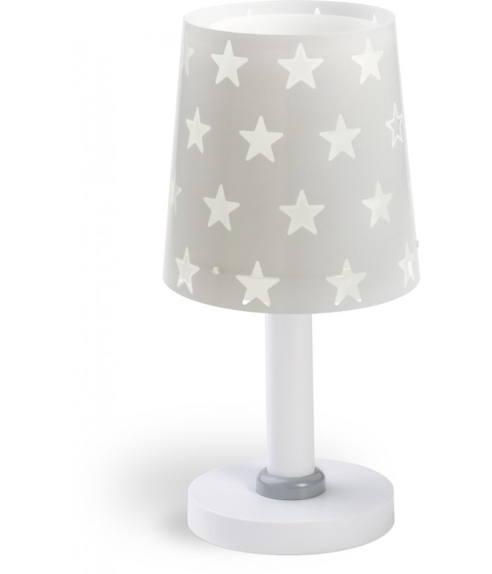 Children table lamp Stars gray