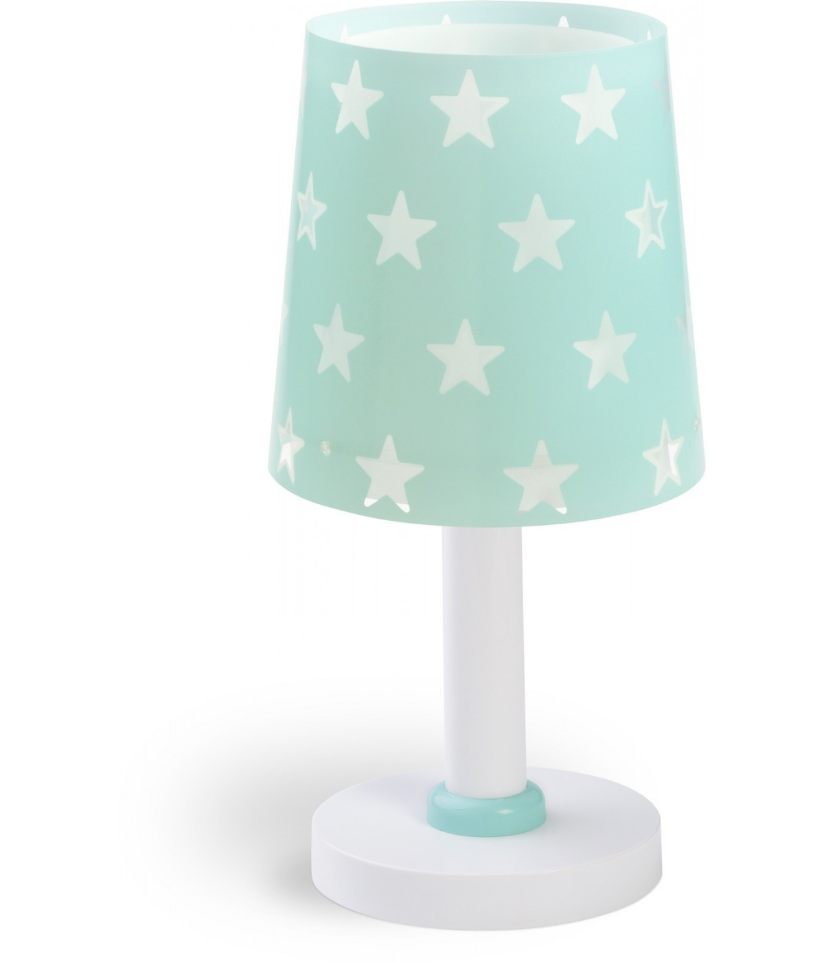Table lamp for Kids Stars green