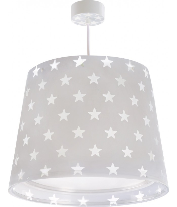 Children hanging lamp Stars gray