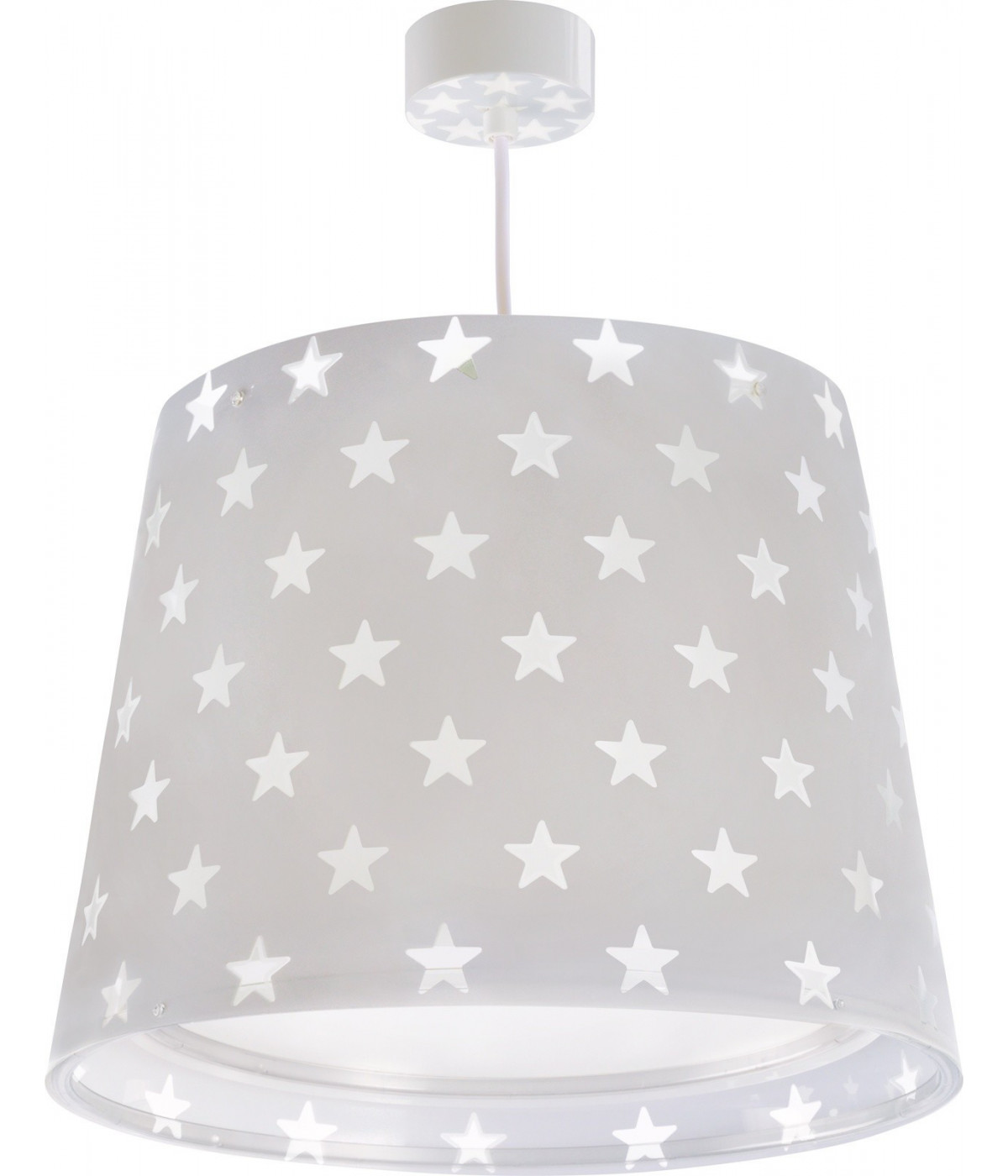 Hanging lamp for Kids Stars grey