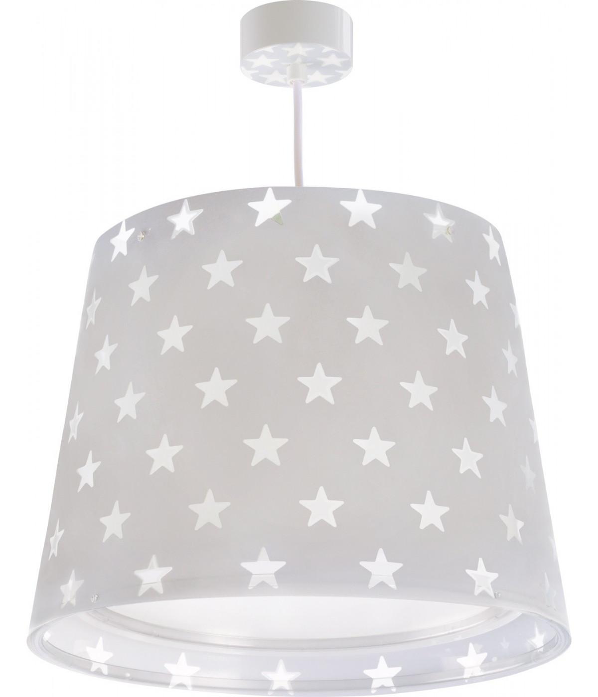 Luminária Pendente Infantil Stars Cinza